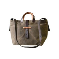 Military Waxed Canvas Satchel