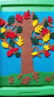 Munchkin and Bean: Autumn Tree and Leaves for Felt Board