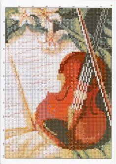 GRAFICOS PUNTO DE CRUZ GRATIS : INSTRUMENTOS MUSICALES(16)