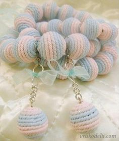 Polymer clay - tutorial -Texture: How to imitate Knitted Beads Polymer Clay Canes, Polymer Clay Creations, Polymer Clay Earrings, Jewelry Patterns, Jewelry Ideas, Knitting Help, Chunky Beads, Paper Beads, Clay Tutorials