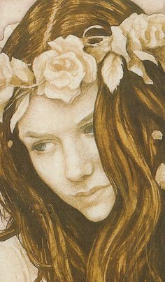 Sarah (Detail) from a piece of concept art by Brian Froud for the film Labyrinth