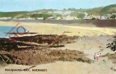 POSTCARD-Guernsey-Rocquaine-Bay