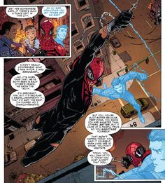 The Superior Spider-Man and Ghost Peter in Superior Spider-Man Spiderman Pictures, Spiderman Art, Marvel Art, Marvel Dc Comics, The Superior Spider Man, Marvel Wallpaper, Spider Verse, Comic Art, Comic Book