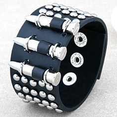 2014 FreeShipping Punk bullet bracelet leather jewelry fashion rivet leather accessories wrist length accounterment US $9.08