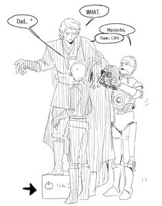 hype-kaminari-kun said: Anakin is huge while her wife and his children are too smoll (tiny). can you draw all family together? Answer: This? Yes,Anakin is SO TALL. Actually,I drew other people. Star Wars Fan Art, Star Trek, Anakin And Padme, Star Wars Ships, Star War 3, Anakin Skywalker, Star Wars Collection, Star Wars Humor, You Draw