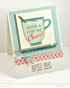 My Favorite Things: Studio Calico Blue Note-Dawn McVey cup of cheer