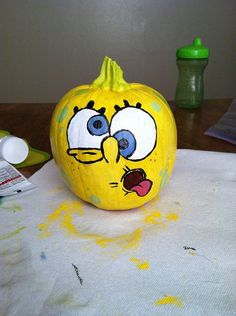 SpongeBob Pumpkin Designs, SpongeBob Birthday Party Door Decorations / Entrance Decors / Signs