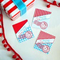 Vintage Santa Printable Gift Tags