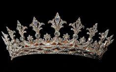 Hesse Diamond Tiara, Germany (1862; diamonds). Owned by Alice, Grand Duchess of Hesse and the Rhine.