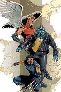 Wolverine, Beast & Angel - Romano