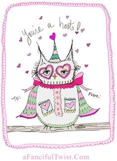 My Owl Barn: Owl Valentine's Free Printables