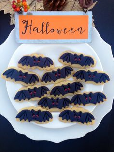 Halloween Treat! Bat Sugar Cookies Recipe. Having a Halloween party or just want a fun treat to make with the kids? This Bat Sugar Cookies recipe is yummy!