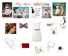 """""""Mary Poppins"""" by emerald-angel ❤ liked on Polyvore featuring Forever New, Love Moschino, Dsquared2, Lisbeth Dahl, Forzieri, Disney, Reeds Jewelers, Orla Kiely, mary poppins and disney"""