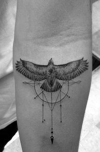 Tattoo • Geometric • Eagle • By Dr. Woo •                              …