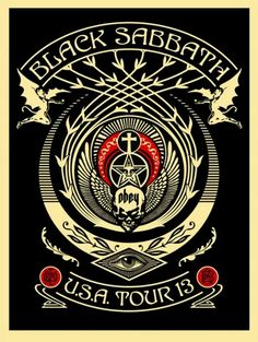 Black Sabbath Tour Posters by Shepard Fairey