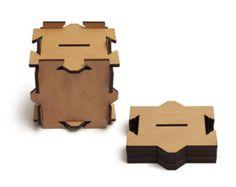 VIMB puzzle money box - flat pack laser cut magic box brain teaser