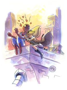 Spidey and Gwen by mikemaihack on deviantART