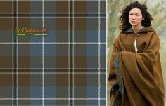 Douglas Blue (Reproduction Colours) - Claire's cloak lining