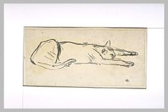 Sketch of a sleeping cat - Theophile Steinlen