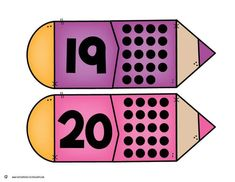 Back to School Number Matching - Kindergarten Math Centers by Kristin Edwards Counting For Kids, Math For Kids, Numbers Preschool, Learning Numbers, Toddler Learning Activities, Learning Time, First Day Of School, Back To School, Maths Paper