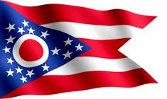 Ohio State Flag. Ohio is the only state with a pennant-shaped flag.