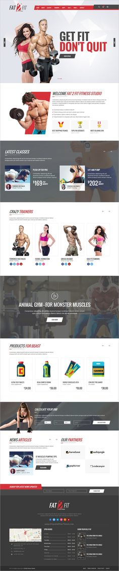 Fat to fit is wonderful modern design #bootstrap #HTML template for #fitness, #gym and #yoga centers website download now➩ https://themeforest.net/item/sport-gym-and-fitness-studio/18897159?ref=Datasata