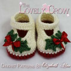 Booties Crochet Pattern for Baby Holly Shoes - $5.95