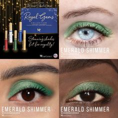 Limited Edition Emerald Shimmer is part of the Royal Gems Collection.  It has a rich green with a metallic finish.  #royalgems #emeraldshimmer #shadowsense