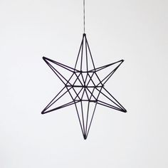 Amazing mobiles/ornaments made from straws.