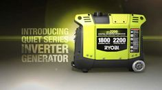 The New RYOBI Inverter Generator available exclusively @Home Depot offers clean, quiet power whenever and wherever you need it!