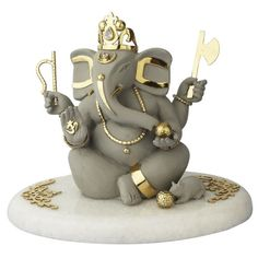 GANESH SHUBH ANRBR-018 - Online Shopping for Figurines n Decoratives by eGitanjali Ltd Ganesh Chaturthi Decoration, Happy Ganesh Chaturthi Images, Ganesh Pooja, Shree Ganesh, Clay Ganesha, Ganesha Painting, Eco Friendly Ganpati Decoration, Eco Friendly Ganesha, Ganesh Idol