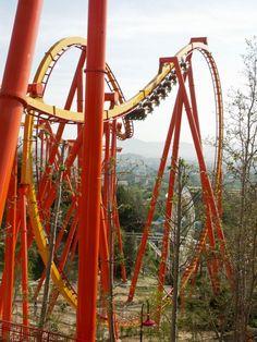 Tatsu, Six Flags Magic Mountain, Valencia CA is Bolliger-Mabillard's largest flying coaster.