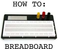This instructable will guide someone with no experience in electronics through prototyping their first circuits on a breadboard. You will need a few basic components to get started:LED: white, red, green, blue 220 resistor 5V power supply/battery/arduino board solderless breadboard and jumper wire - It's a good idea to get many colors of wire (esp black and red) so that you can keep your breadboard organized.
