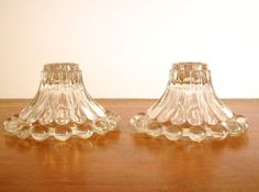 Boopie Glass Candle Holders Hobnail Candlewick by tatterandfray, $14.00
