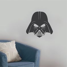 Darth Vader Wall Decal _ Star Wars Wallpaper Murals _ Vader Star Wars Bedroom Designs _ DIY Star Wars Decals _ Trendywalldesigns