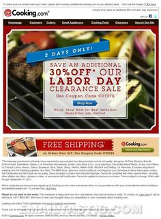 2 Days Only! Save an Additional 30% off Labor Day Clearance