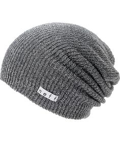 Add some variety to your wardrobe with a new Neff Girls Daily Sparkle charcoal beanie that works with any outfit. Instantly warm your head in soft comfort thanks to the ribbed knit construction in the charcoal colorway, slouchy fit, and a Neff logo tag em