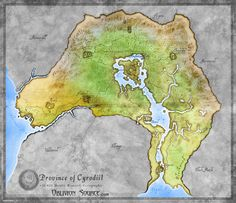 Oblivion - Province of Cyrodiil map. I love Skyrim, but I think Cyrodiil will always be my home.