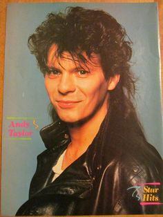 Andy Taylor Duran Duran   Duran Duran, Andy Taylor, Full Page Vintage Pinup