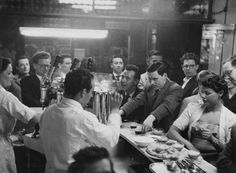 Moka Bar at 29 Frith Street. Installed the first Gaggia espresso machine in London. 1953.