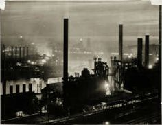 (Industry: Overview of Steel Mill on the Monongahela River at Night) F. ROSS ALTWATER (AMERICAN, 1886–1959) 1931