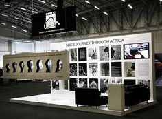 "NBC exhibition stand | IRF 2012 by XZIBIT`S ""EYE LOVE CANDY"" PORTFOLIO, via Flickr **Like the cut-out hanging idea**:"