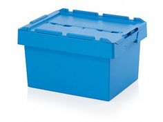 53 Litre Stack - Nest Attached Lid Container - Lidded Plastic Storage Box