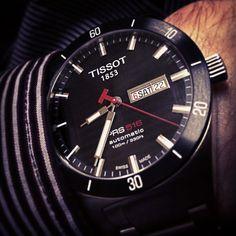 my #tissot #automatic watches #openback #prs516 $tsport