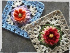 "The Bloemfontein Rose Crochet Square Free Pattern by Jen Tyler. ""I really love this square. Just my cup of coffee…simple, vintage-feely, not too complicated, and with an ""open-work"" design I usually go for!"" Pattern More Patterns Like This!"