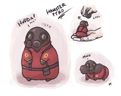 Pyro Hamster why do I find this so cute? Team Fortress 2, Tf2 Comics, Tf2 Pyro, Valve Games, Tf2 Memes, Cute Comics, Geek Culture, Funny Games, Overwatch