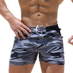 Taddlee Brand Sexy Men's Swimwear Swimsuits Man Plus Big Size XXL Spandex Beach Long Board Shorts Boxer High Rise Cut Trunks Men Camouflage Shorts, Camo Shorts, Swim Shorts, Men Shorts, Summer Shorts, Jungs In Shorts, Men's Swimsuits, Men's Swimwear, Discount Swimwear