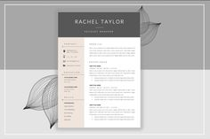 Resume Template & Cover Letter by ResumeStudio on @creativemarket