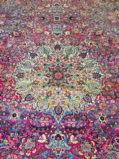 Brightly colored carpet