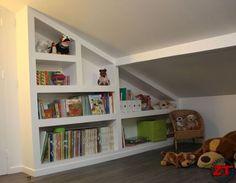 Bookcase Closet, Bookshelves, Girl Room, Vintage Furniture, Kids Bedroom, Family Room, Sweet Home, New Homes, Room Decor